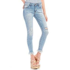 STS Blue Emma Frayed Hem Crop Ankle Skinny Jeans